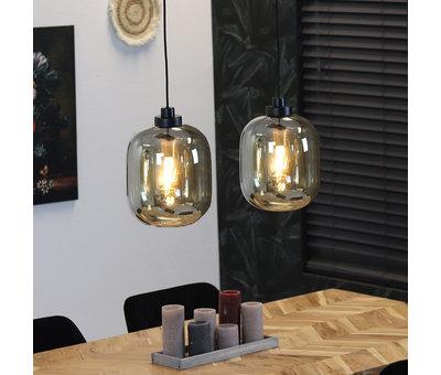 Bronx71 Hanglamp Amber 30 cm 2-lichts glas