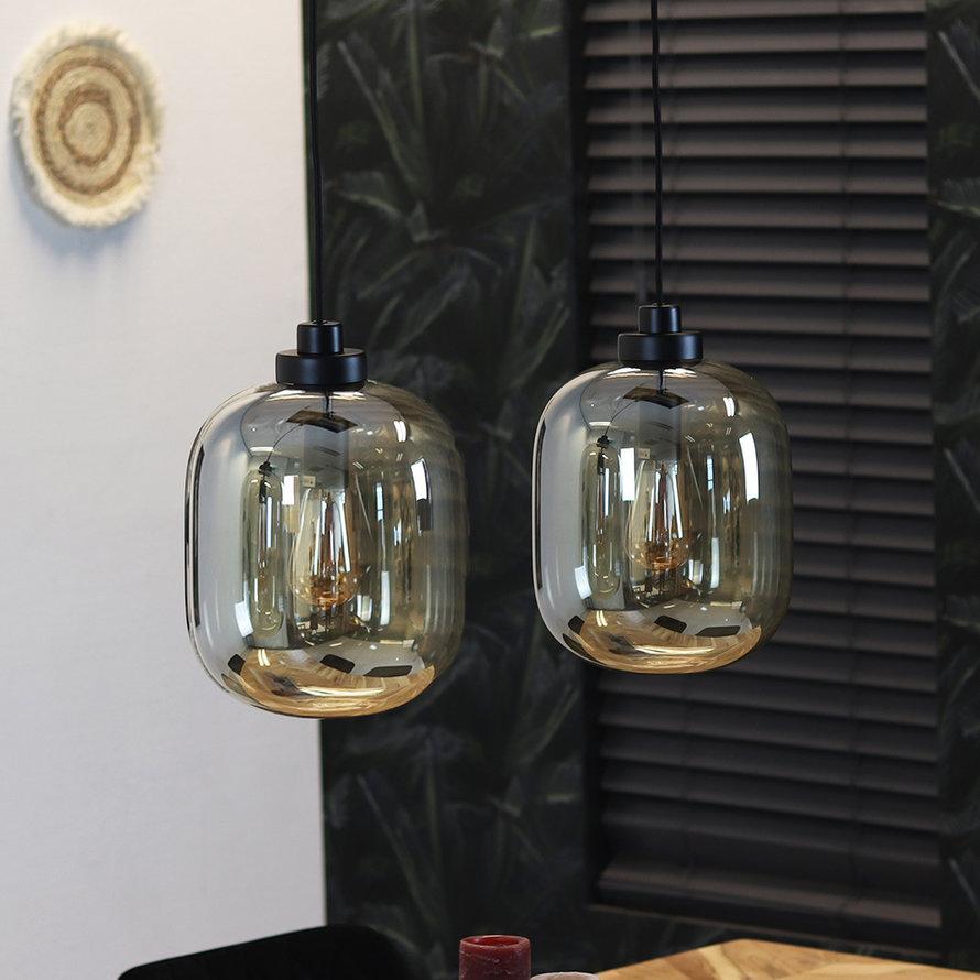 Hanglamp Amber 30 cm 2-lichts glas