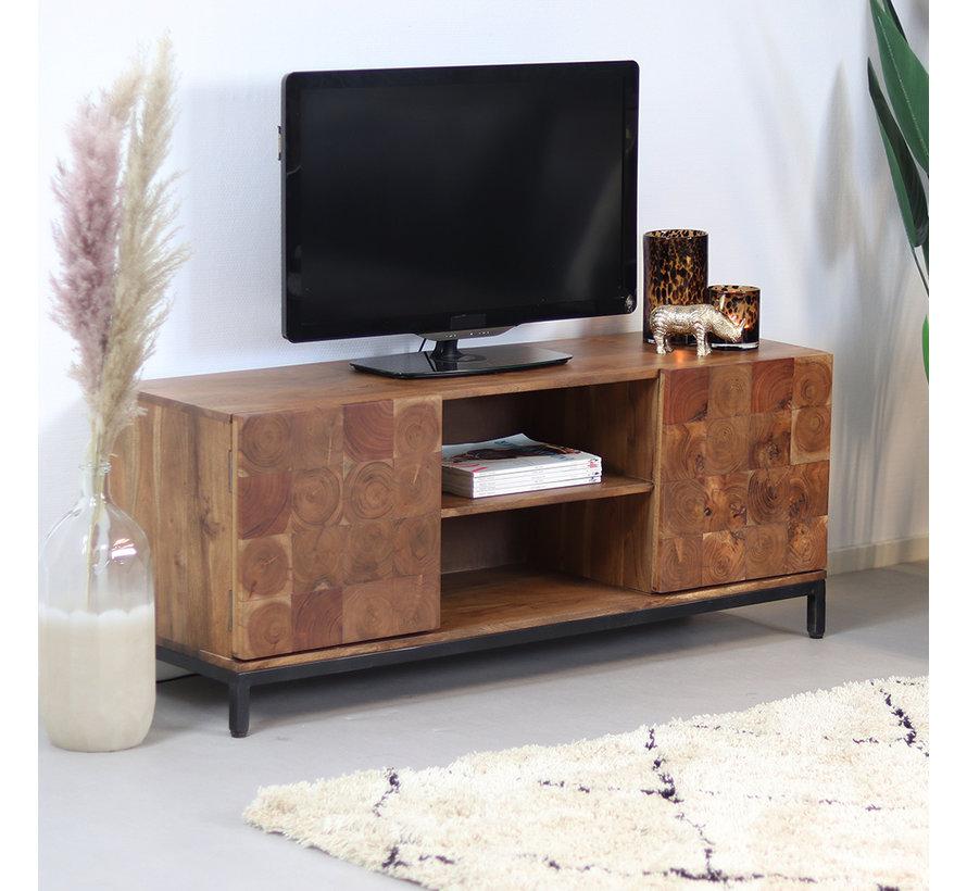 Industrieel tv meubel Forrest acaciahout 130 cm