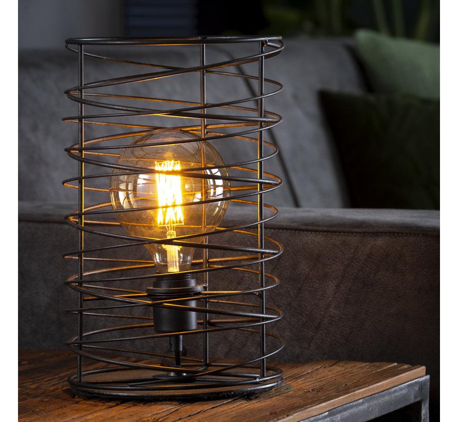 Industriële tafellamp Curl charcoal