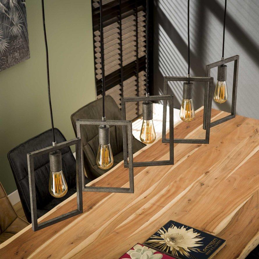Industriële hanglamp Clara 5-lichts