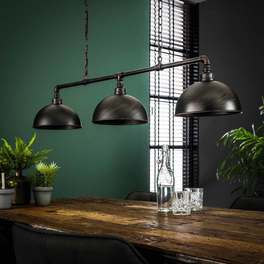 Industriële hanglamp Ryan zwart
