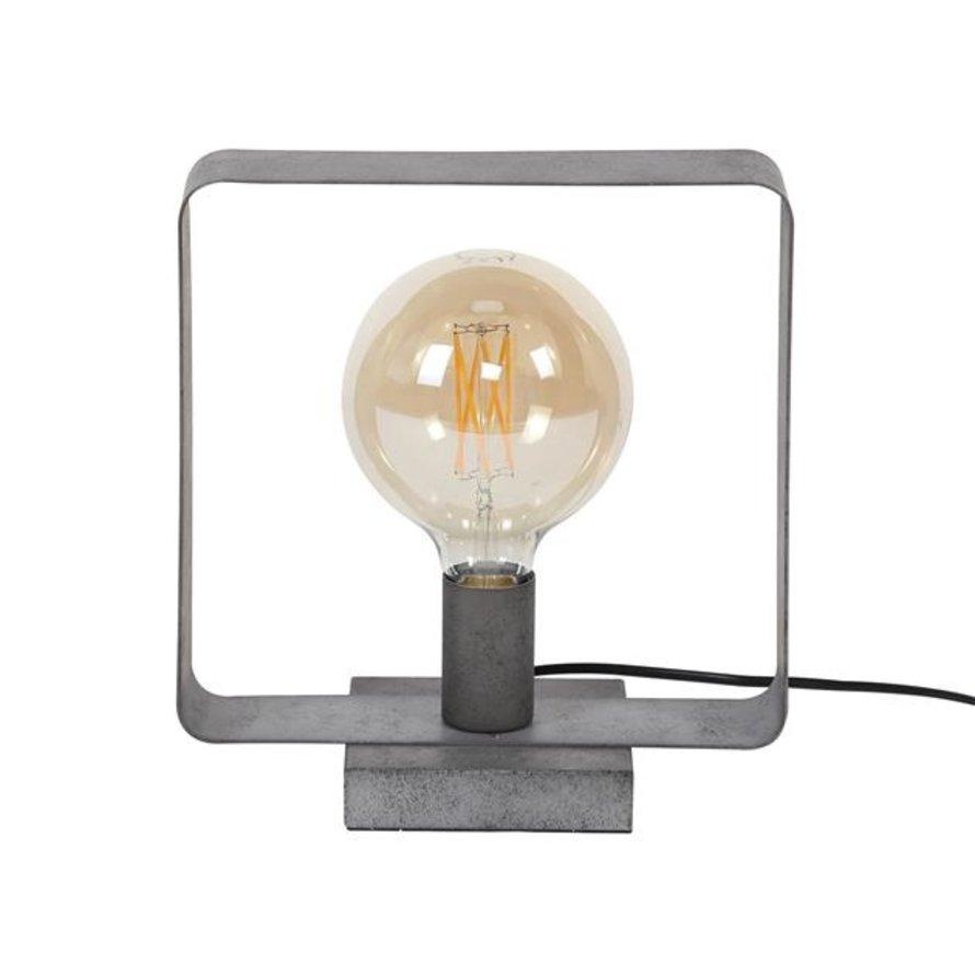 Industriële tafellamp Remco oud zilver 1-lichts