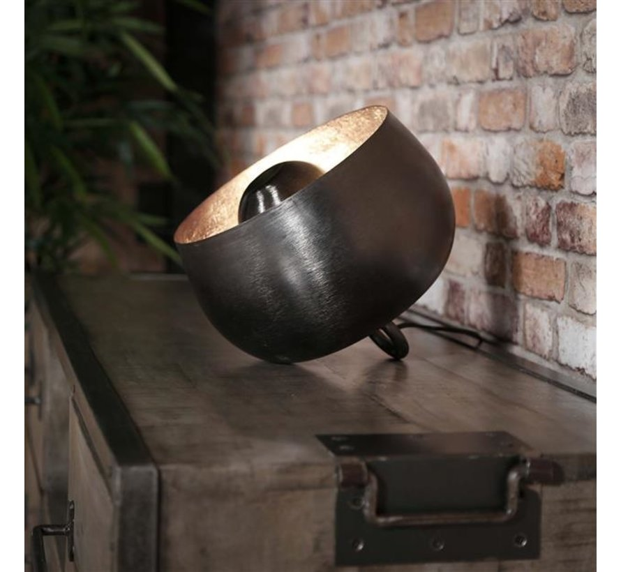 Industriële tafellamp Benny zwart  Ø 28 cm