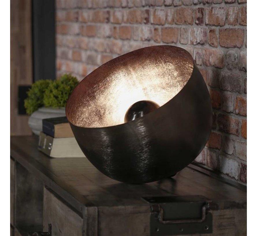 Industriële tafellamp Benny zwart Ø 36 cm