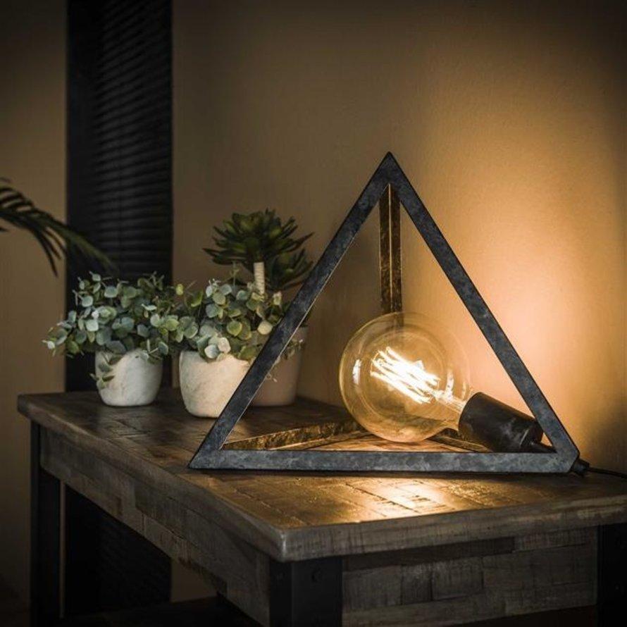 Industriële tafellamp Peter charcoal 1-lichts