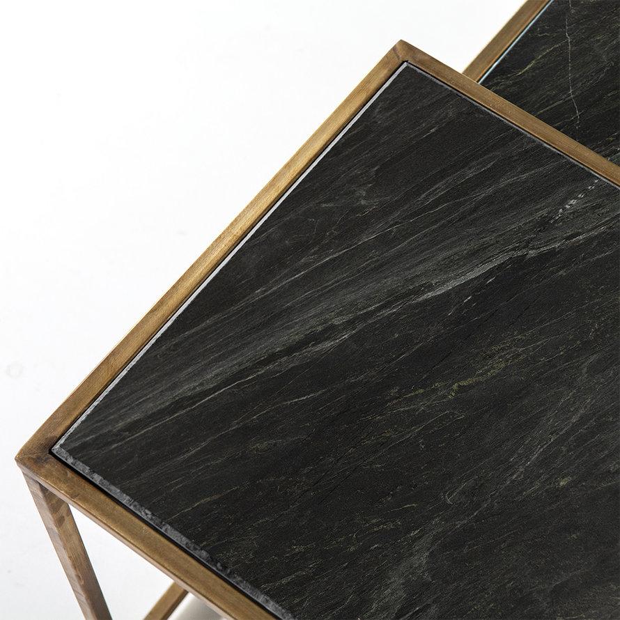 Salontafel marmer Julius zwart (set van 3)