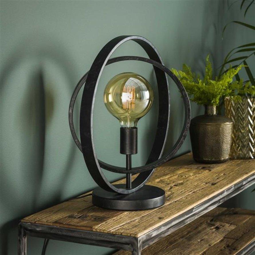 Industriële tafellamp Rotate charcoal 1-lichts