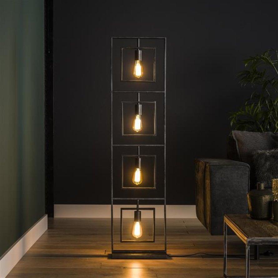 Industriële vloerlamp Judith charcoal 4-lichts