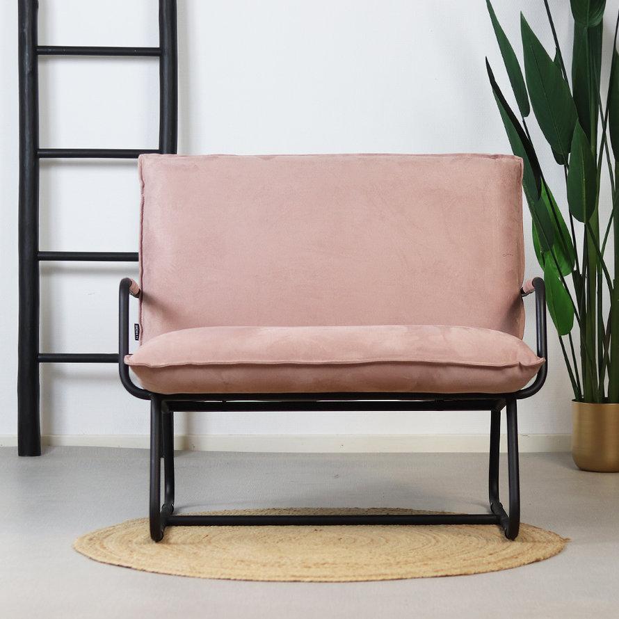 Fauteuil Ohio roze microvezel