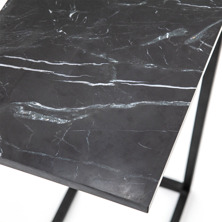 Moderne laptoptafel Philip marmer zwart