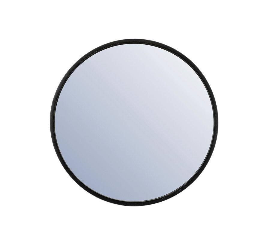Design spiegel Ceto zwart Ø60 cm metaal