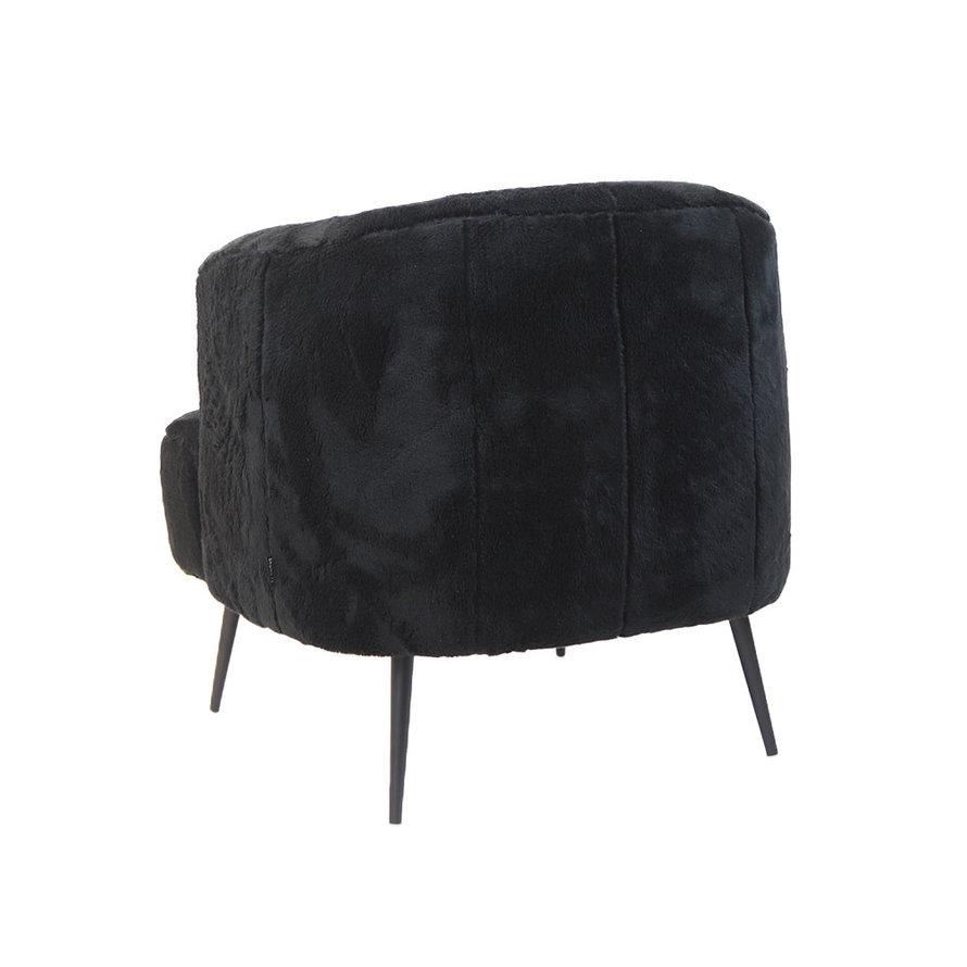 Teddy fauteuil Billy zwart