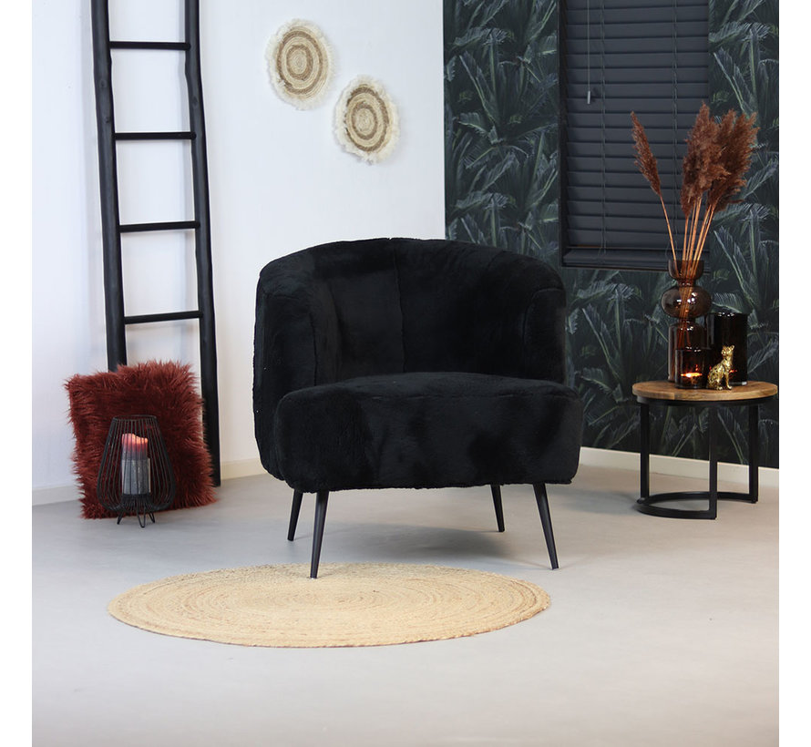 Teddy fauteuil Billy zwart