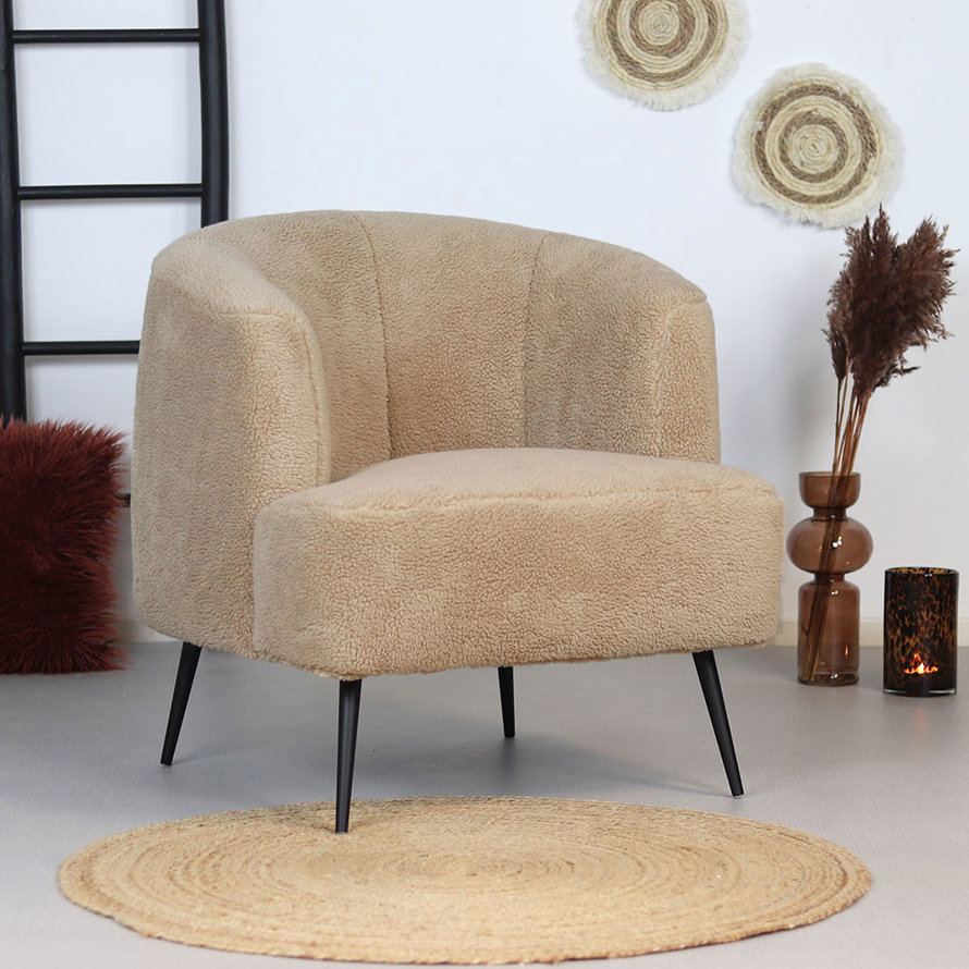 Teddy fauteuil Billy taupe/beige