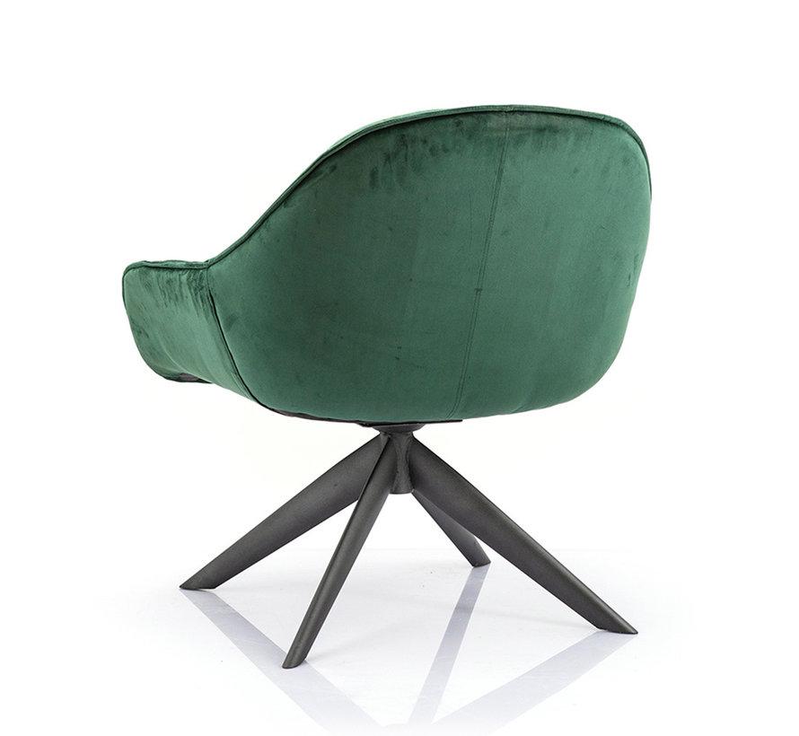 Velvet fauteuil Mila groen