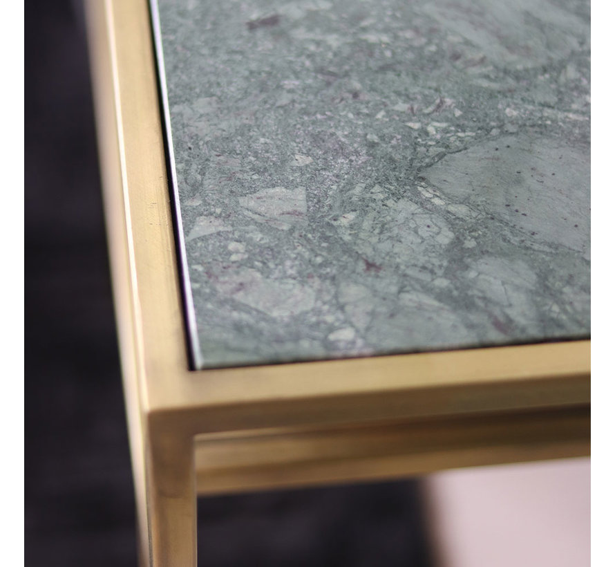 Moderne bijzettafel Bente marmer groen