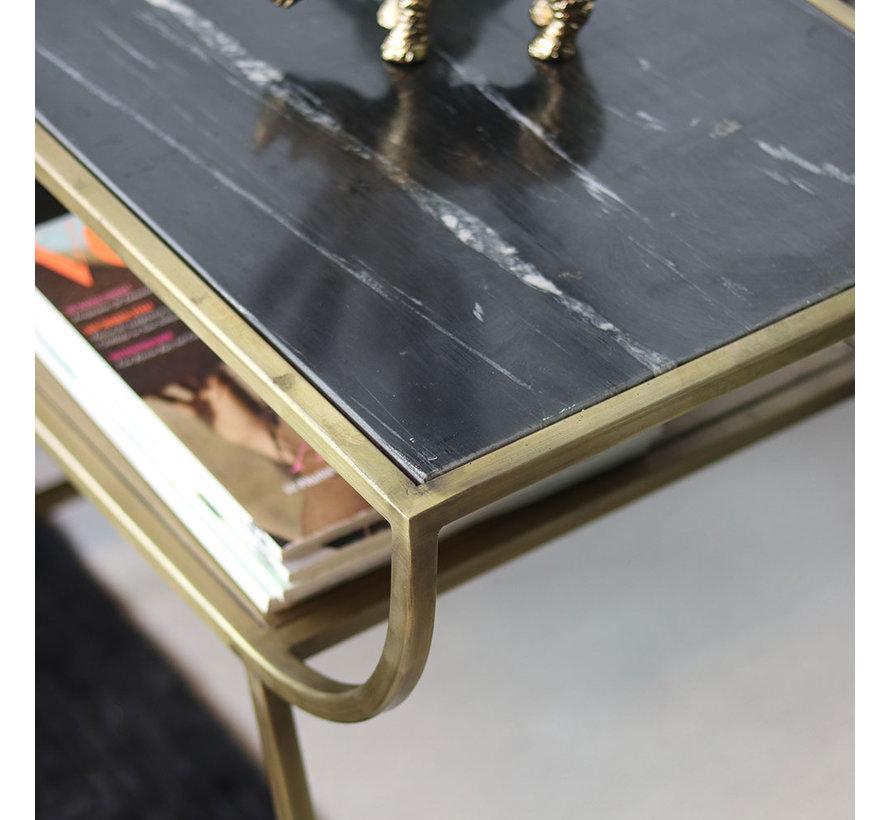 Moderne bijzettafel Bente marmer zwart