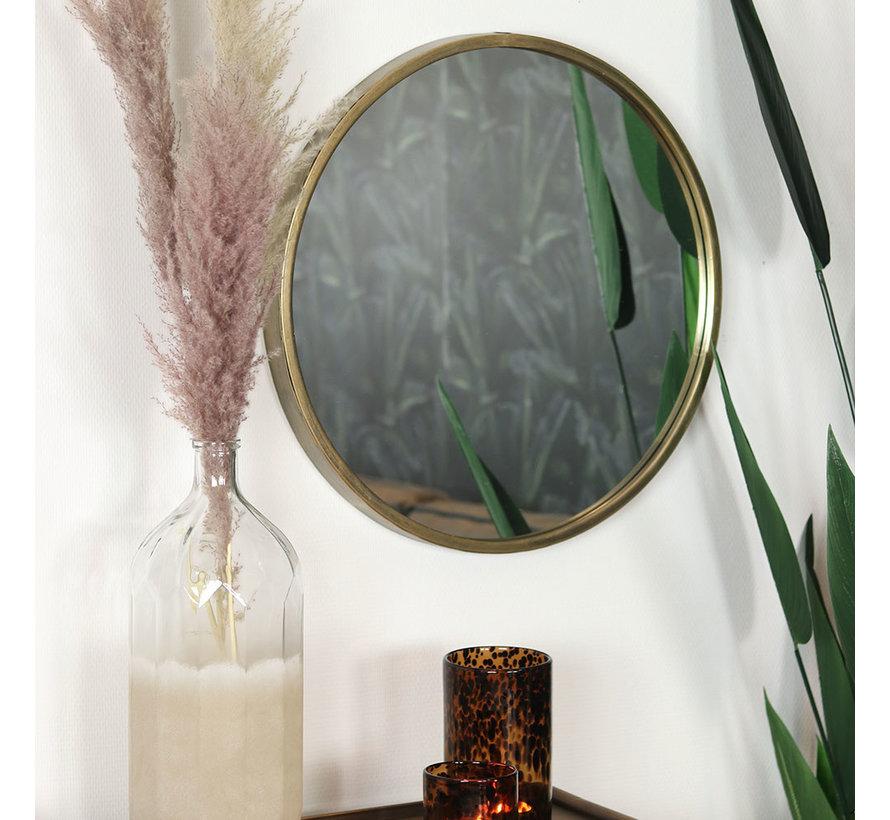 Design spiegel Ceto goud Ø60 cm metaal