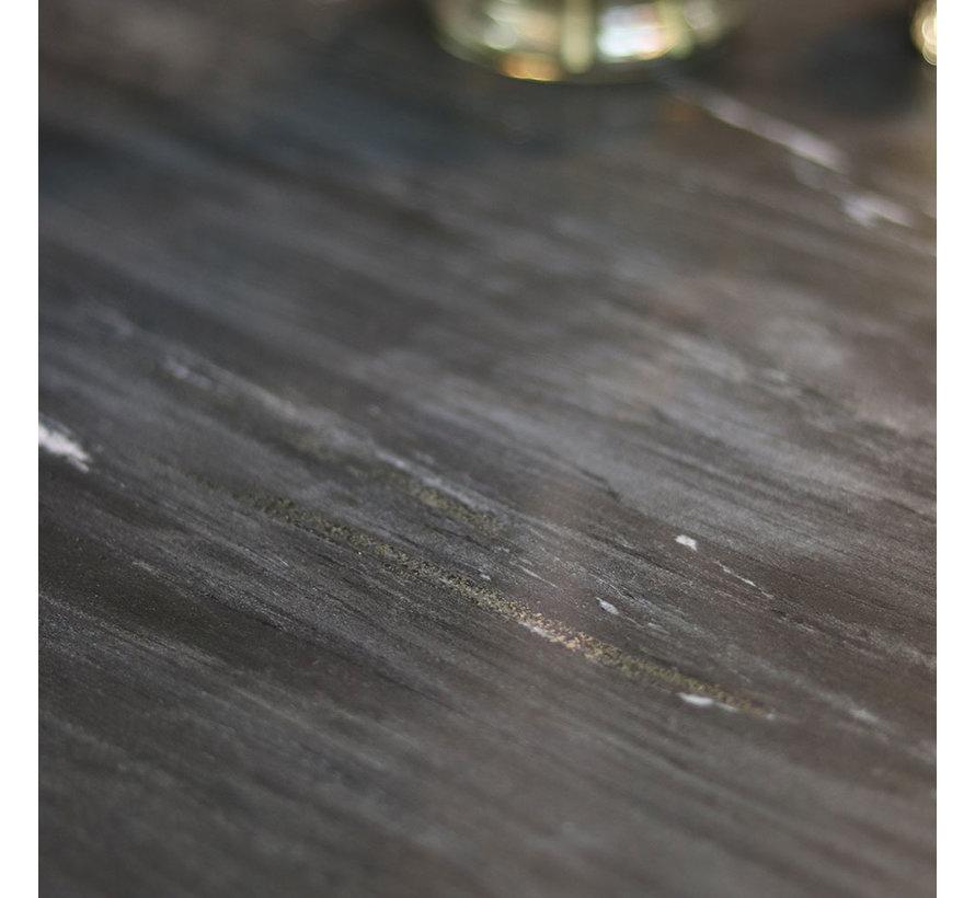 Salontafel marmer Rumi zwart Ø70