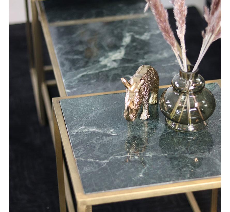 Moderne salontafel Julius marmer groen (set van 3)