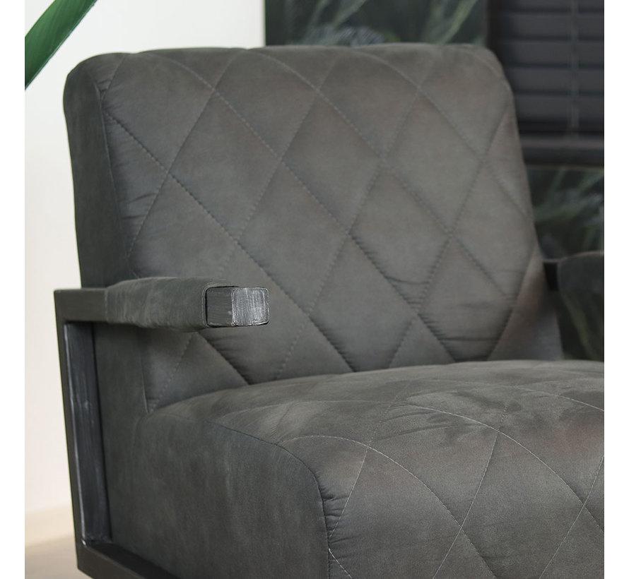 Industriële fauteuil Lucky zwart microvezel