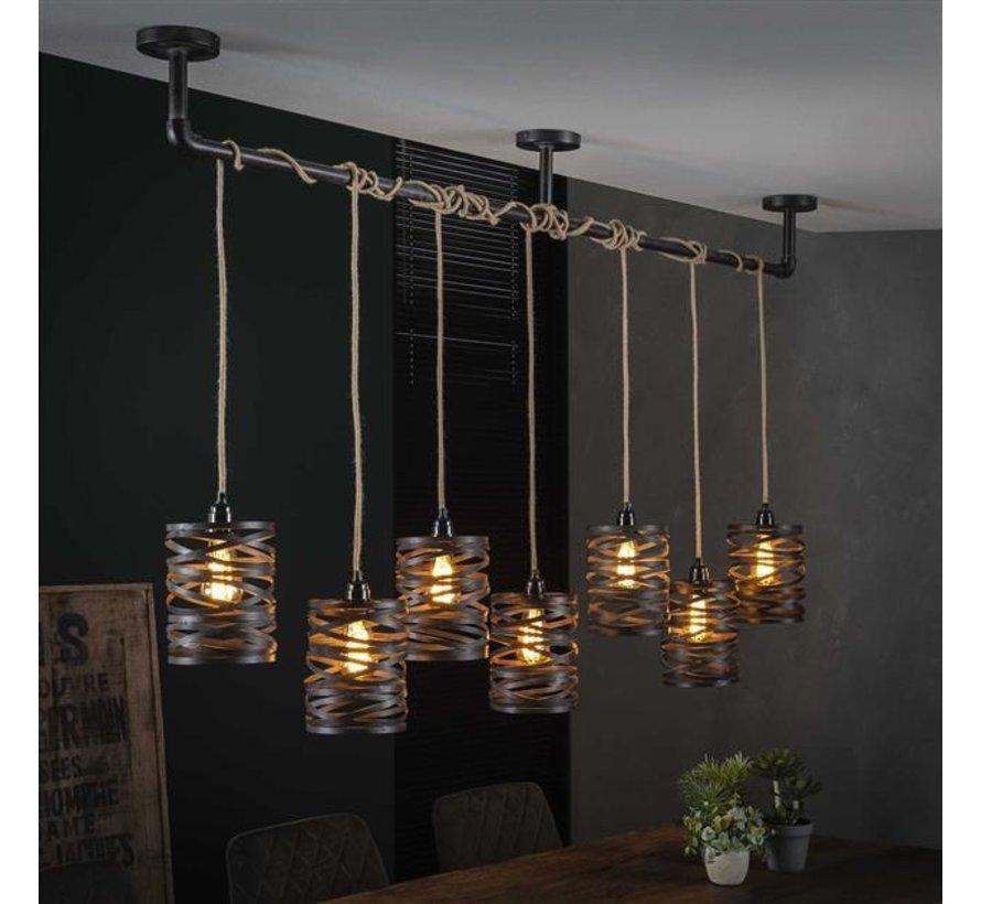 Industriële hanglamp Wico 7-lichts