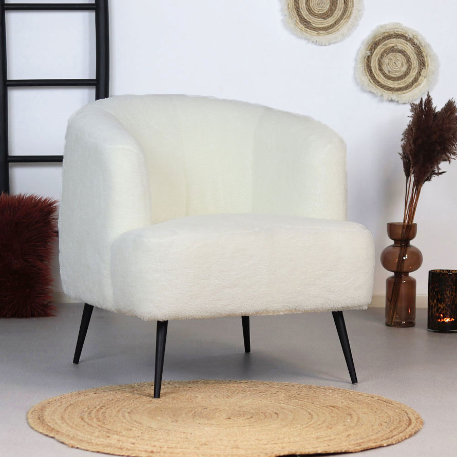 Teddy fauteuil Billy wit