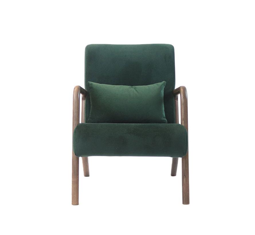 Velvet fauteuil Bibi donkergroen