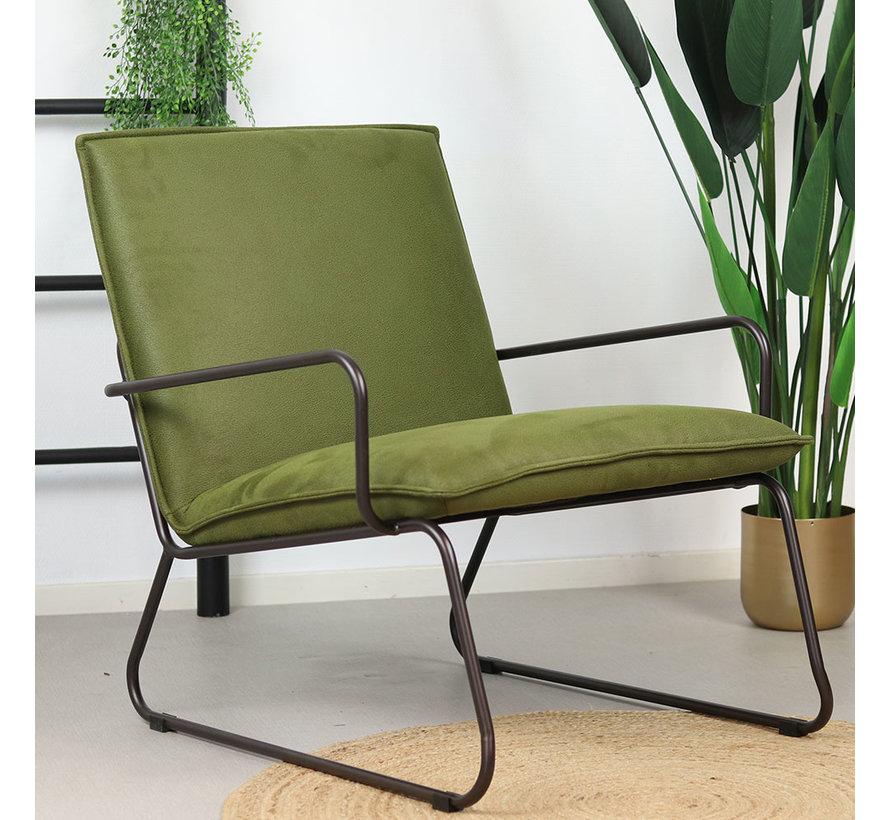 Industriële fauteuil Lucas groen