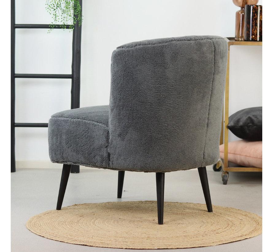 Teddy fauteuil Lyla grijs