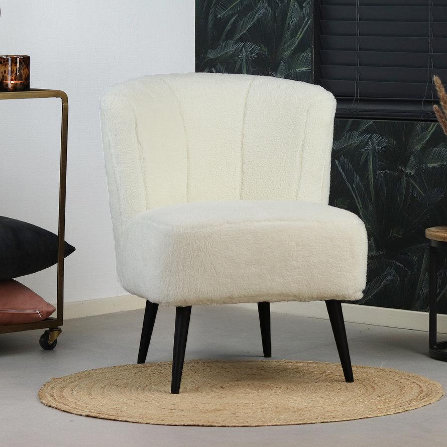 Teddy fauteuil Lyla wit