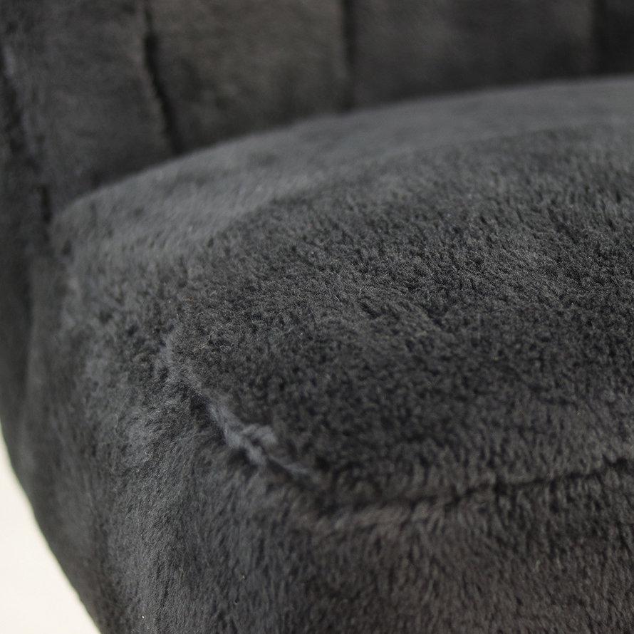 Teddy fauteuil Lyla zwart