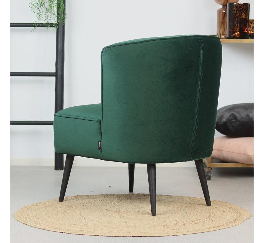 Velvet fauteuil Lyla donkergroen
