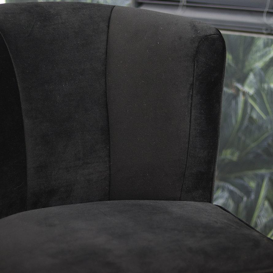 Velvet fauteuil Lyla zwart