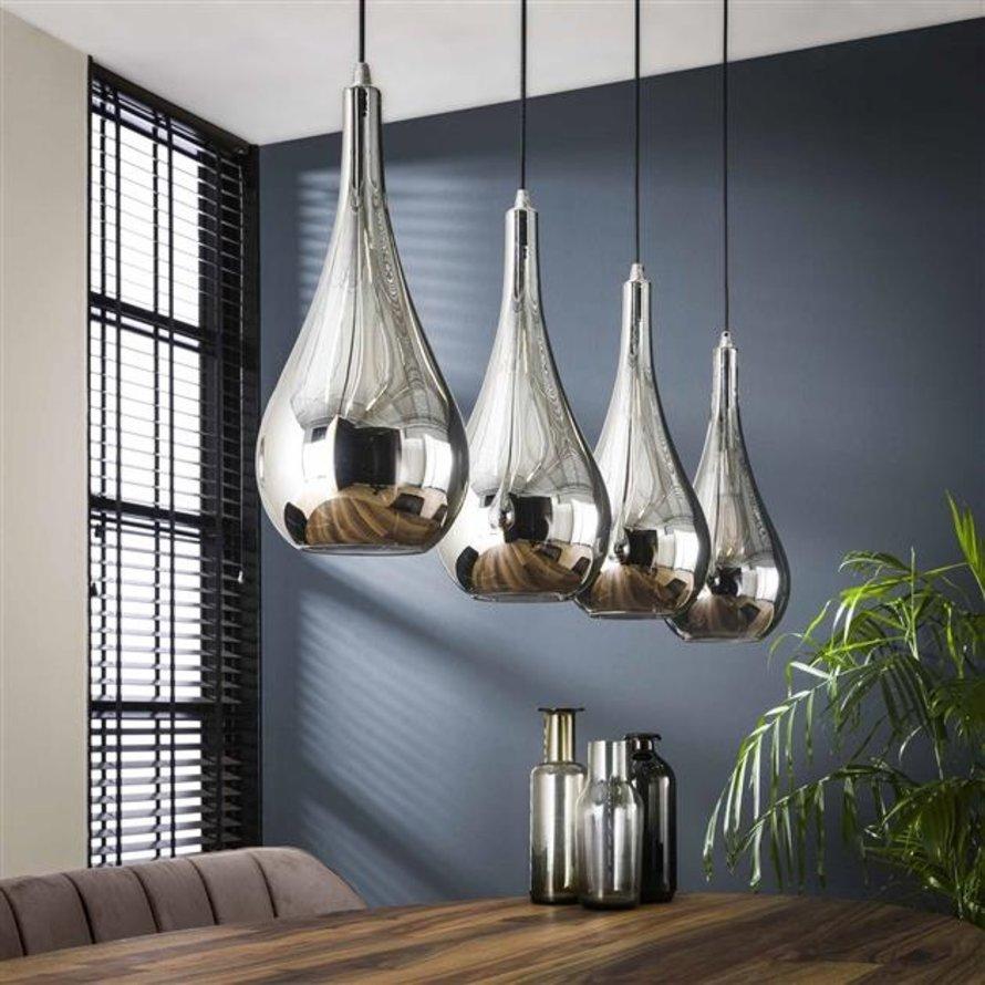 Hanglamp Sydney glas 4-lichts druppel