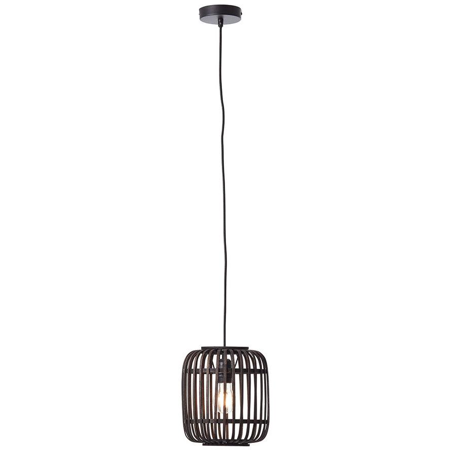 Industriële hanglamp Woody zwart 1-lichts