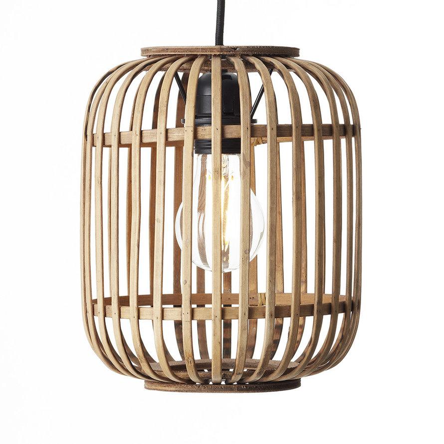 Industriële  hanglamp Woody bamboe 1-lichts
