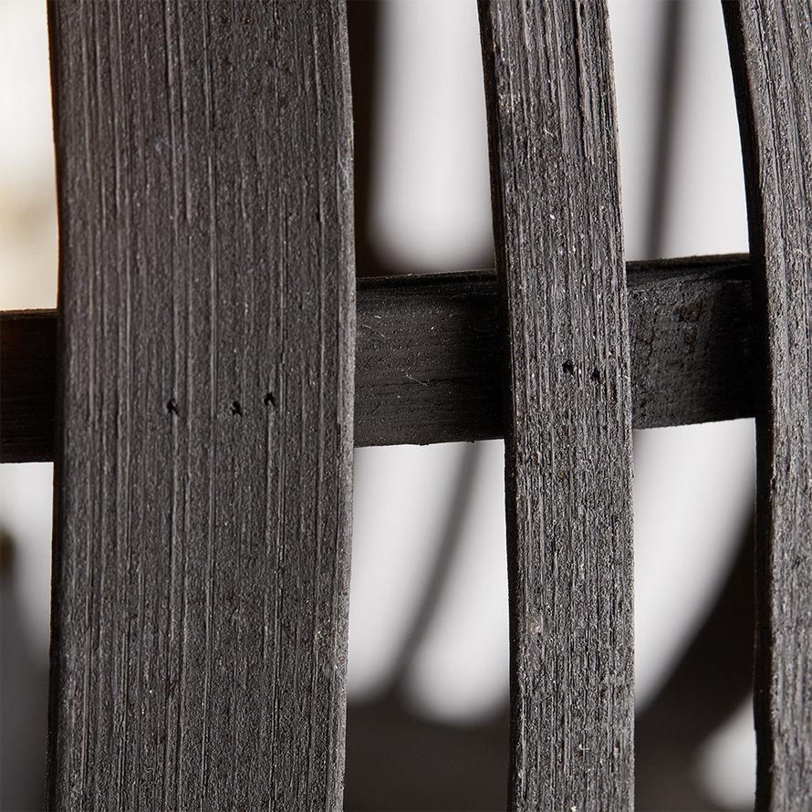 Industriële plafondlamp Woody zwart 1-lichts