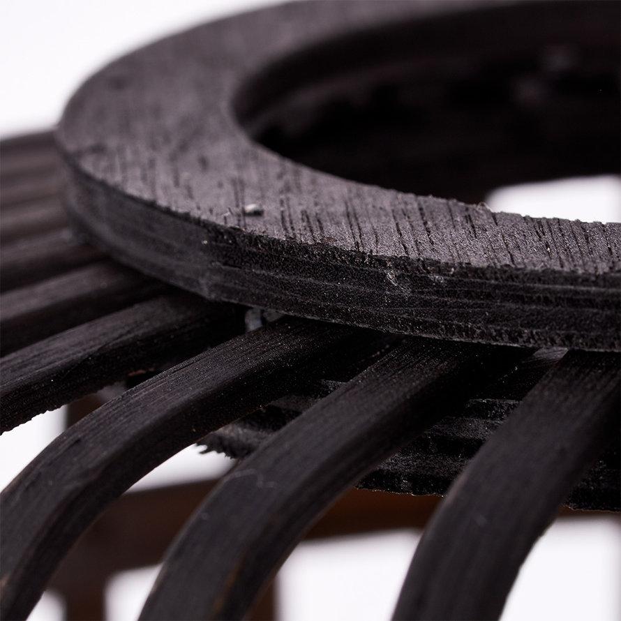 Industriële tafellamp Woody driepoot  zwart 1-lichts