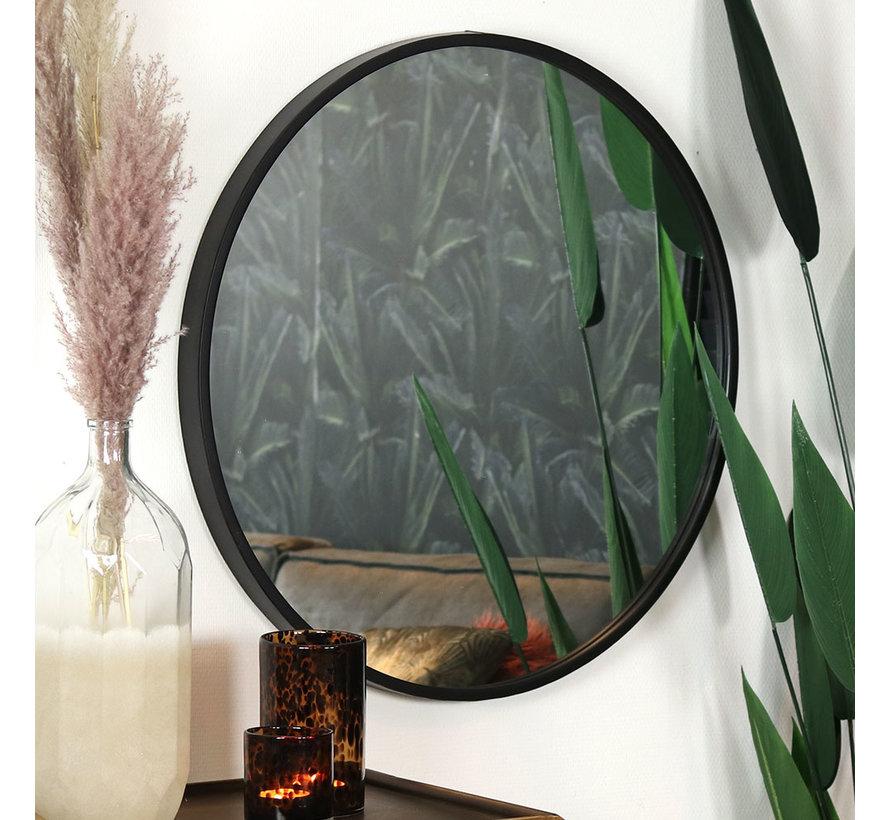 Design spiegel Ceto zwart Ø80 cm metaal