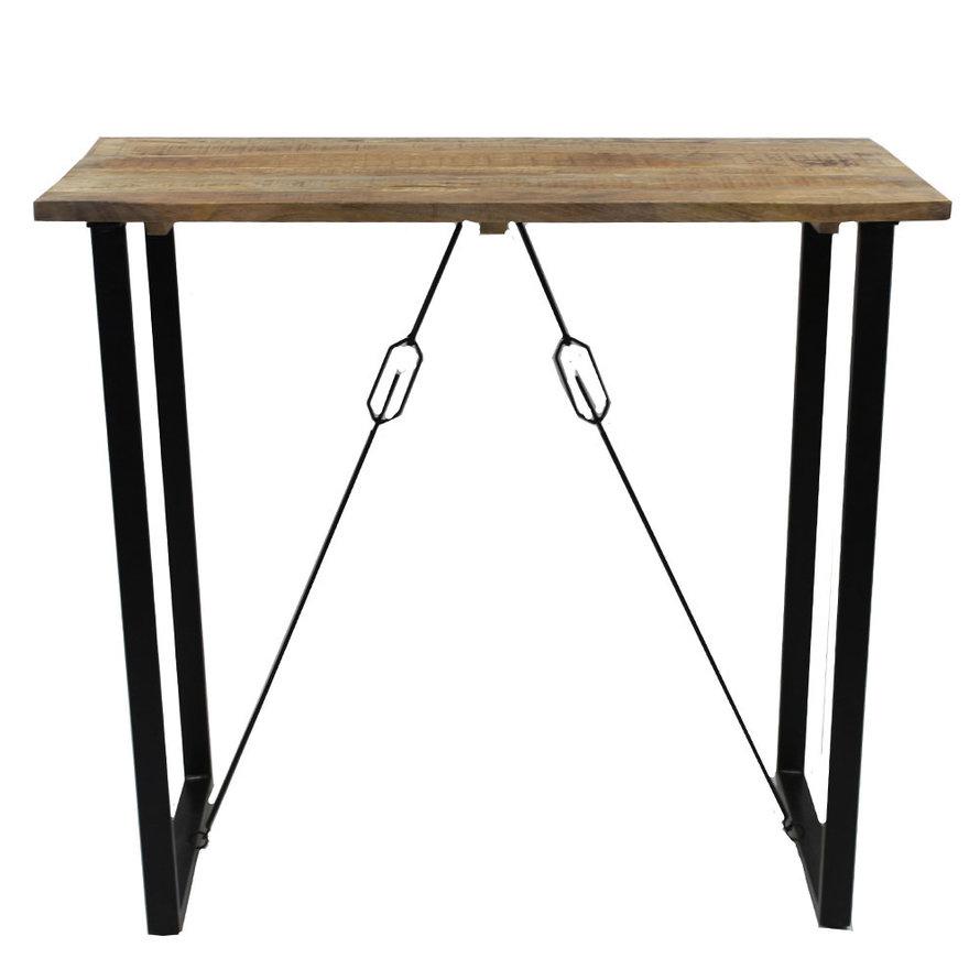Industriële bartafel Owen mangohout 70 x 130 cm