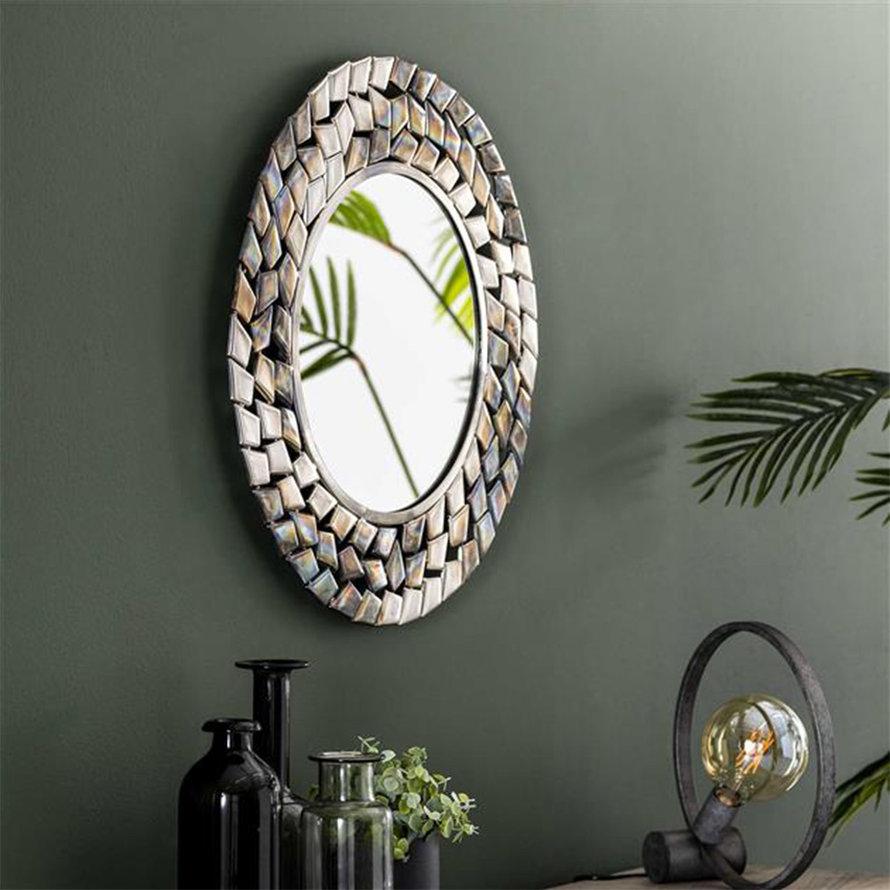 Design spiegel Lize rond Ø65 antiek nikkel