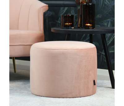Bronx71 Velvet fauteuil Amy roze