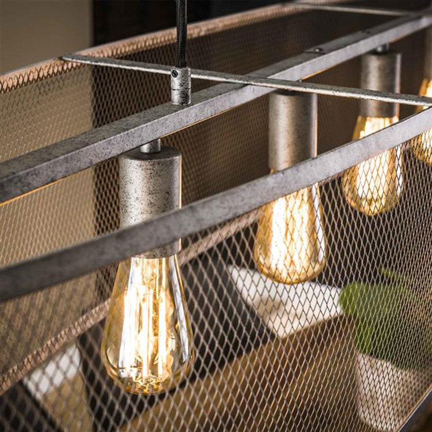 Industriële hanglamp Sepp 6-lichts metaal