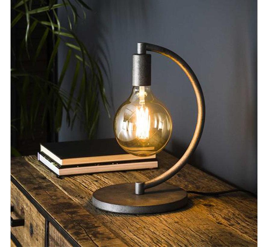 Industriële tafellamp Ezra 1-lichts oud zilver