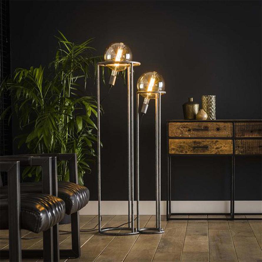 Industriële vloerlamp Cosmos 2-lichts set oud zilver