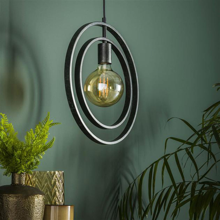 Industriële hanglamp Rotate charcoal 1-lichts