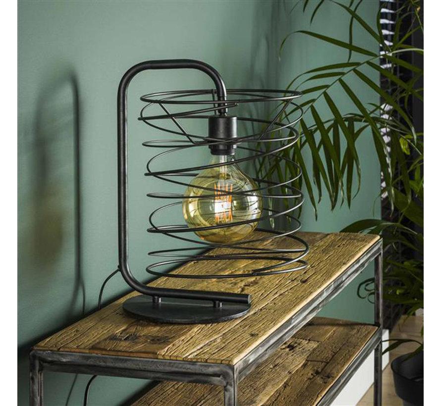 Industriële tafellamp Curl charcoal 1-lichts
