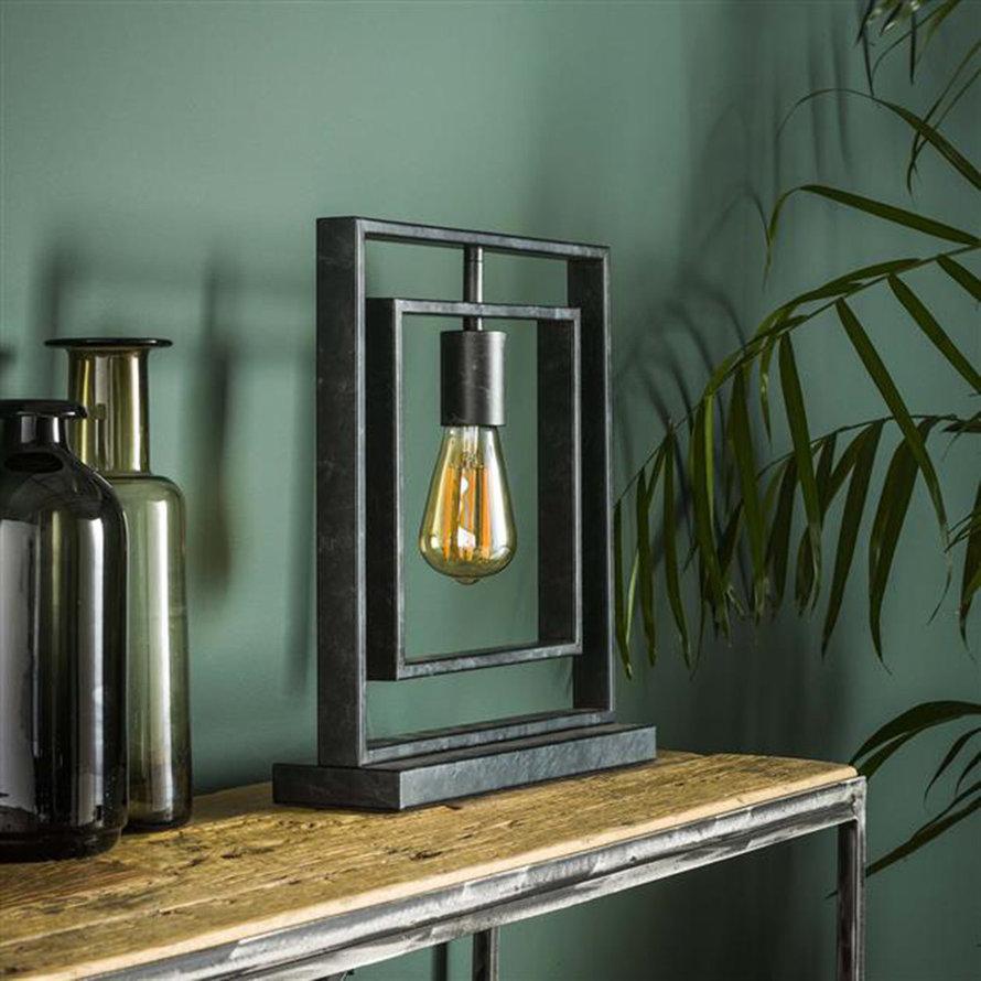 Industriële tafellamp Mick charcoal 1-lichts